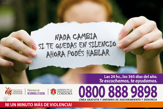 Afiche Violencia Familiar 0800