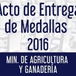 Acto de Entrega de Medallas - Ministerio de Agricultura y Ganadería