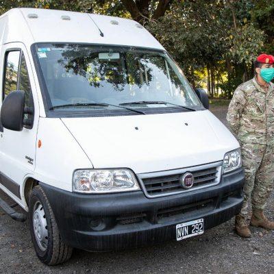 Fiat aportó vehículos para el COE