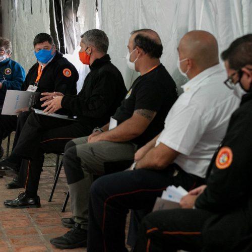 Reunión con jefes de bomberos