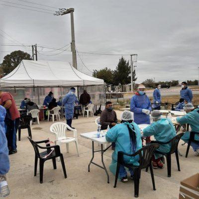 Testeos en barrio Campo de la Ribera, ciudad Capital